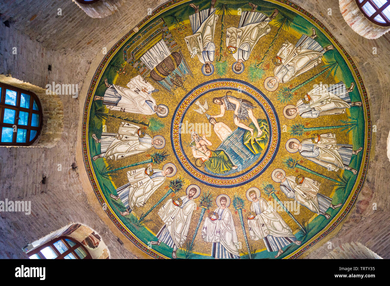 mosaics-of-baptism-of-christ-with-john-the-baptist-and-apostles-arian-baptistery-c-500ad-ravenna-emilia-romagna-italy-TRTY35.jpg