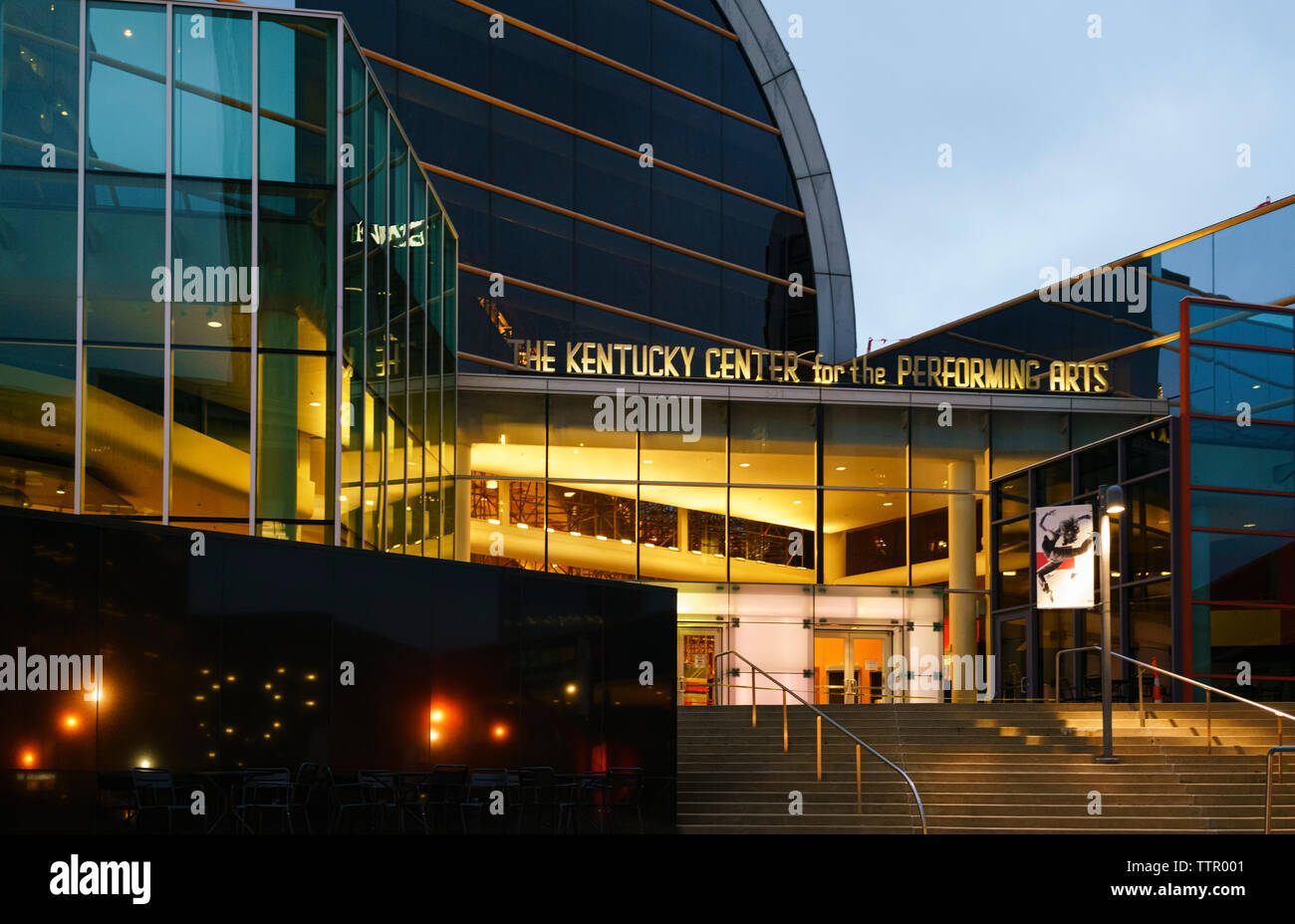 Kentucky Center for the Performing Arts: Louisville Orchestra, Ballet, Kentucky Opera, Stage One Family Theatre, PNC Bank Broadway in Louisville Stock Photo
