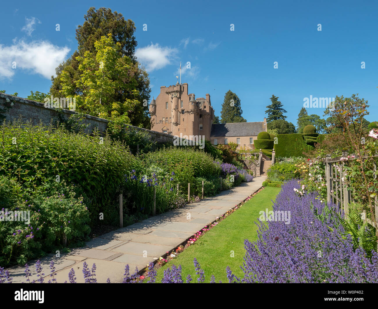 Part of the Walled Gardens at Crathes Castle, Scotland Stock Photo