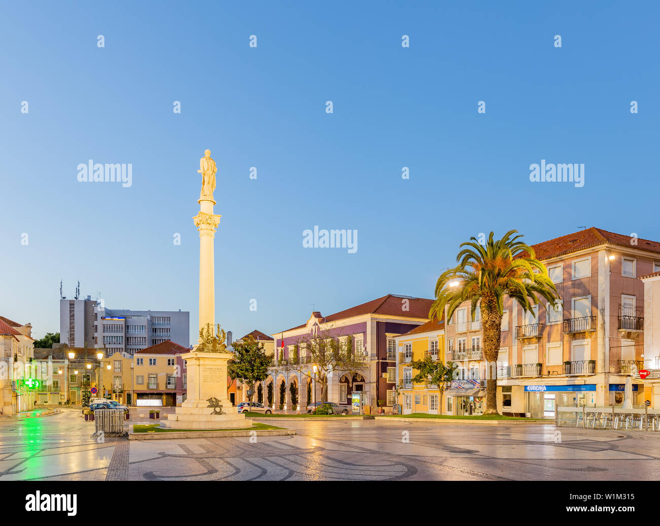 Praça de Bocage, Setúbal downtown, Portugal Stock Photo