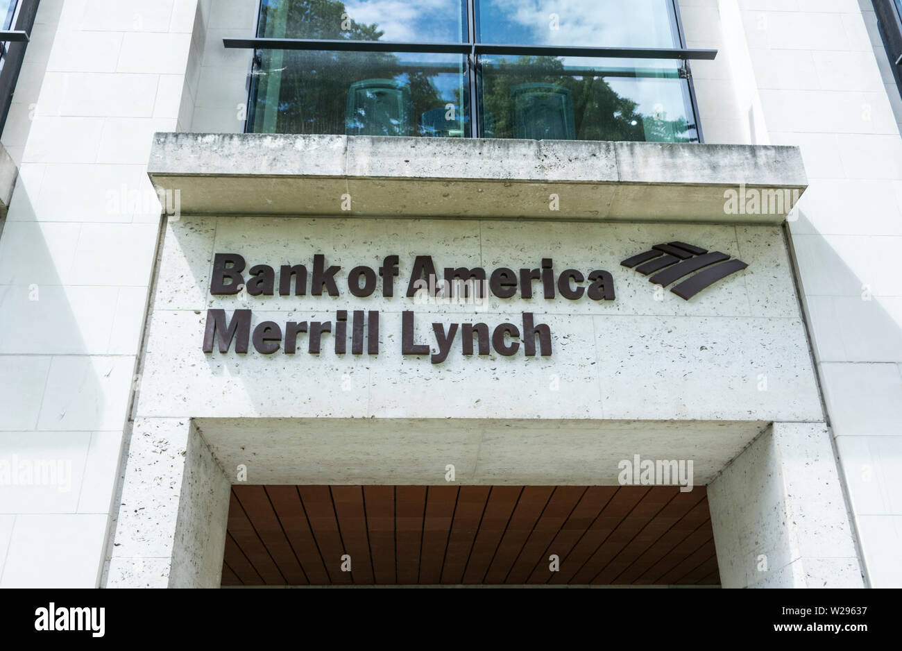 Bank of America, Merrill Lynch, King Edward Street, Farringdon, London EC1, England, UK Stock Photo