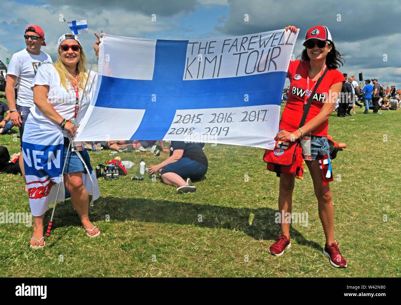 GoTonySmith,HotpixUK,@HotpixUK,Silverstone,Grand Prix,British,F1,Formula One,Formula 1,Formula1,UK,GB,GP F1,fan,fans,Great Britain,Towcester,Northamptonshire,NN12 8TN,Raikkonen,iceman,Finnish,Finland,flag,with flag,2015,2016,2017,2018,2019,Farewell Kimi,women,girls,females,Finn,two girls,girls holding flag,two women
