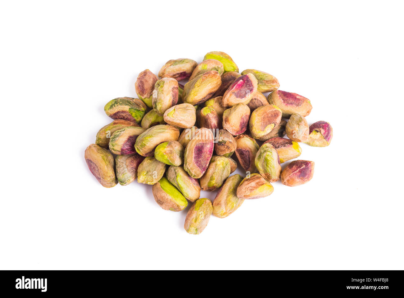 pistachios group  isolated on  white background Stock Photo