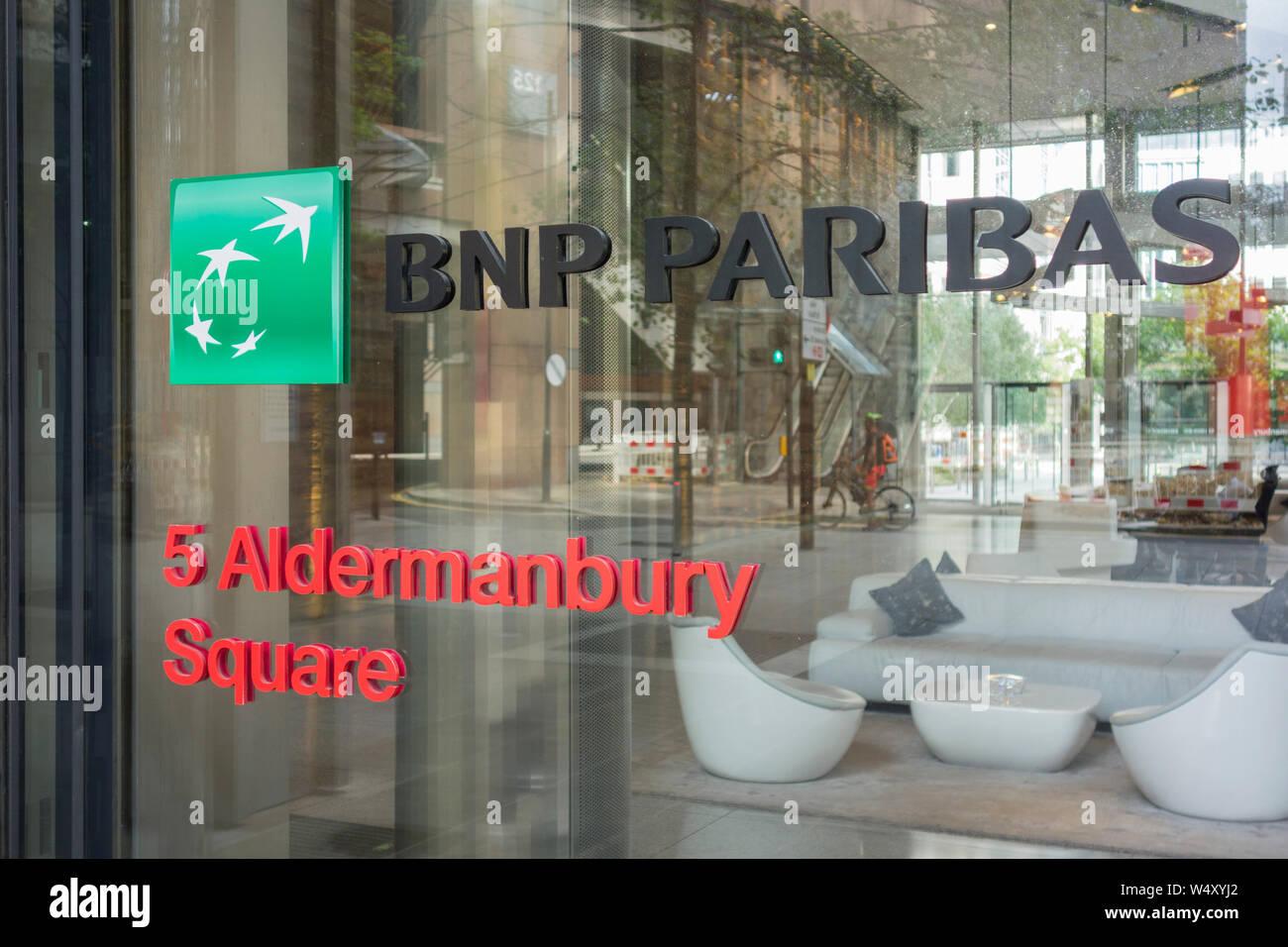 BNP Paribas, 5 Aldermanbury Square, Barbican, London, EC2, UK Stock Photo