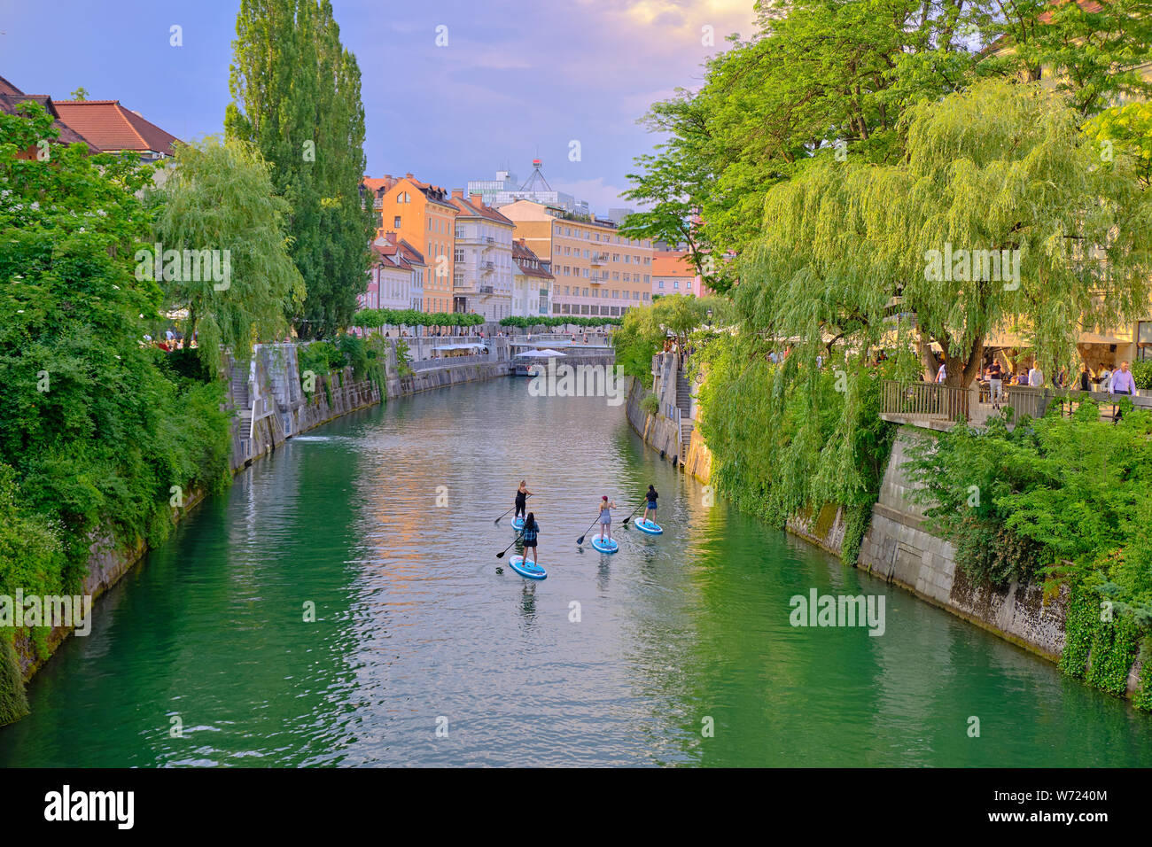 tourist-riding-stand-up-paddle-board-down-the-river-through-the-historic-city-centre-of-ljubljana-slovenia-june-2019-W7240M.jpg