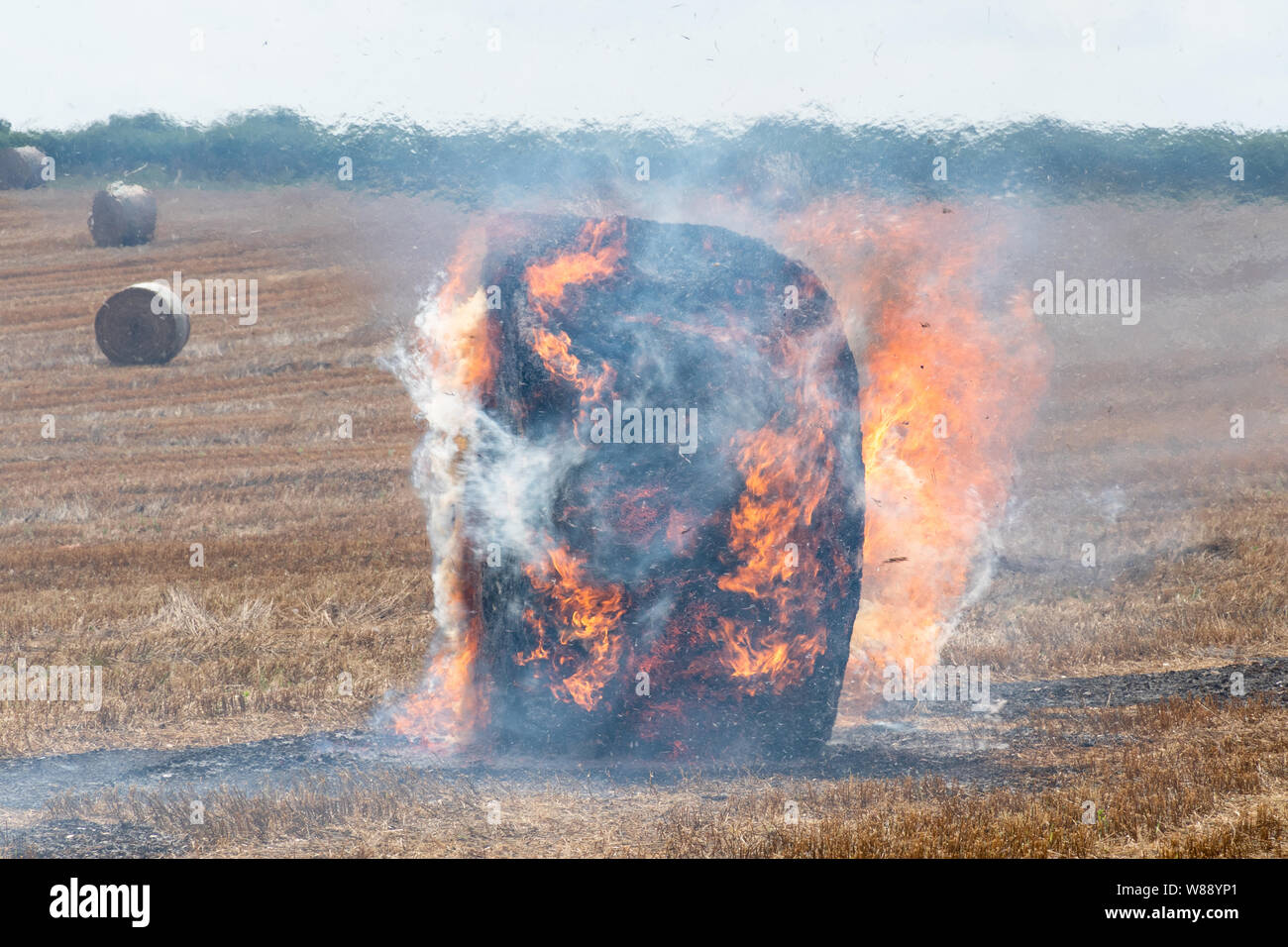 burning-linseed-straw-bales-in-a-hampshire-field-during-august-uk-W88YP1.jpg