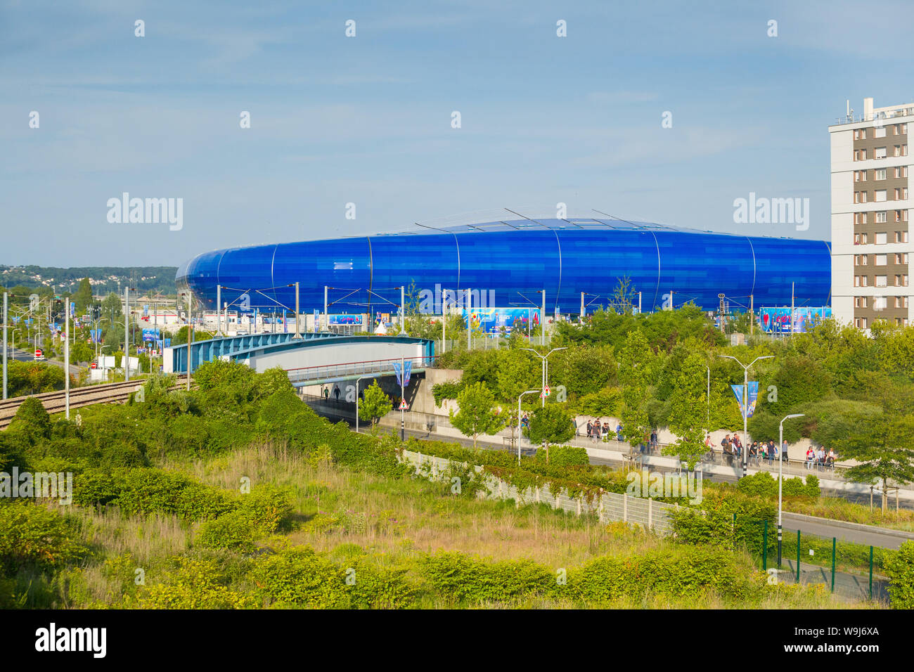 A view of the Stade Océane football stadium in Le Havre, Normandy, France, home to Le Havre AC football team Stock Photo