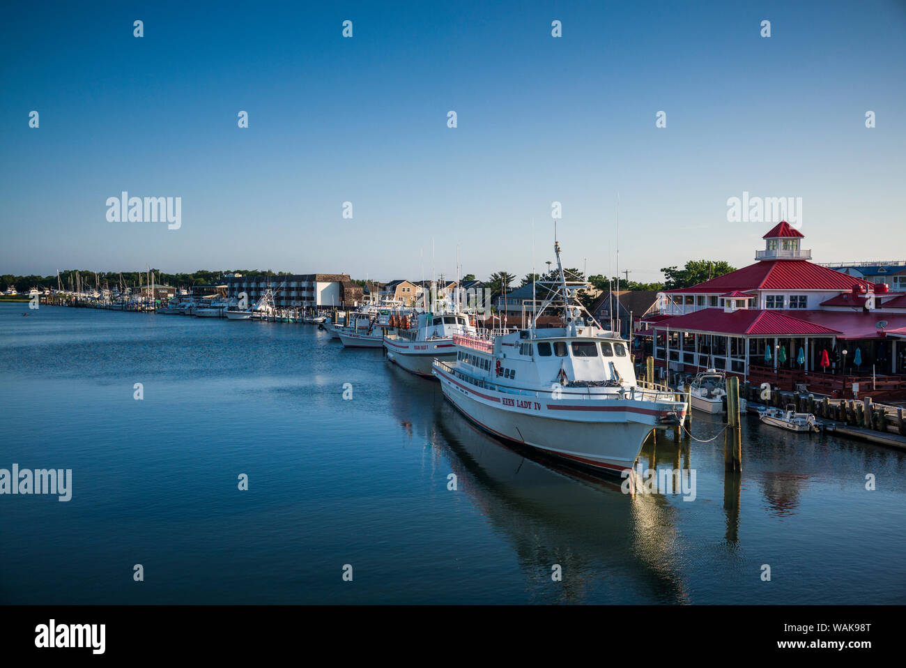 USA, Delaware, Lewes. Waterfront view along the Lewes and Rehoboth Canal Stock Photo
