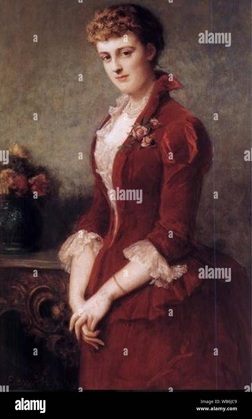 Edith Wharton by Edward Harrison May. Stock Photo