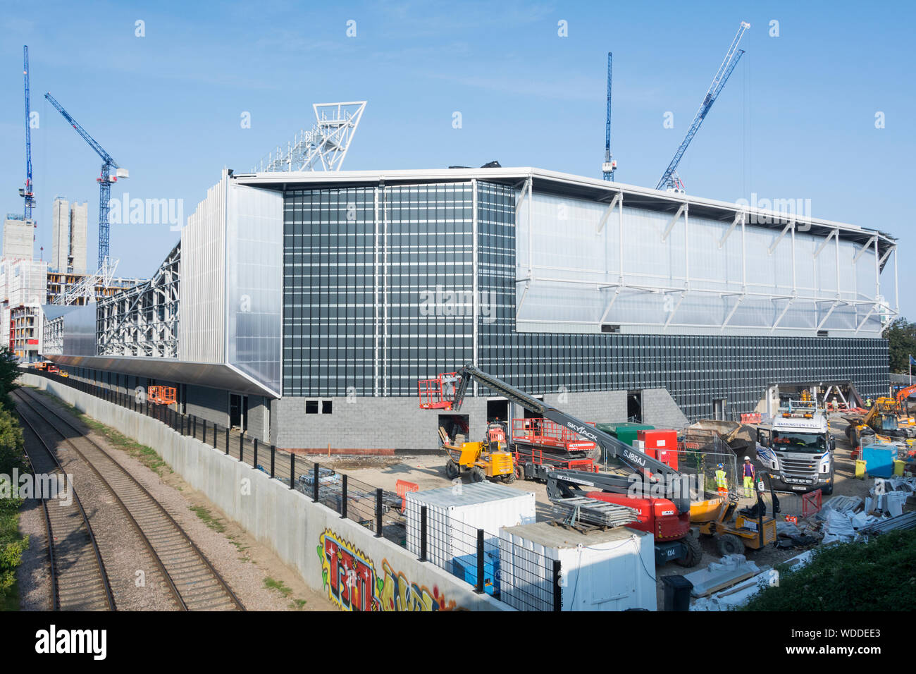 The Brentford Community Stadium under construction, the new home of Brentford Football Club in Brentford, Hounslow, south west London, UK Stock Photo