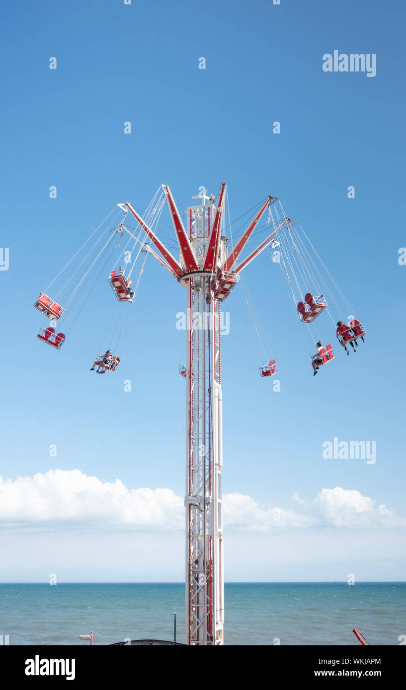 Star flyer ride at Bridlington sea front funfair East Yorkshire 2019 Stock Photo