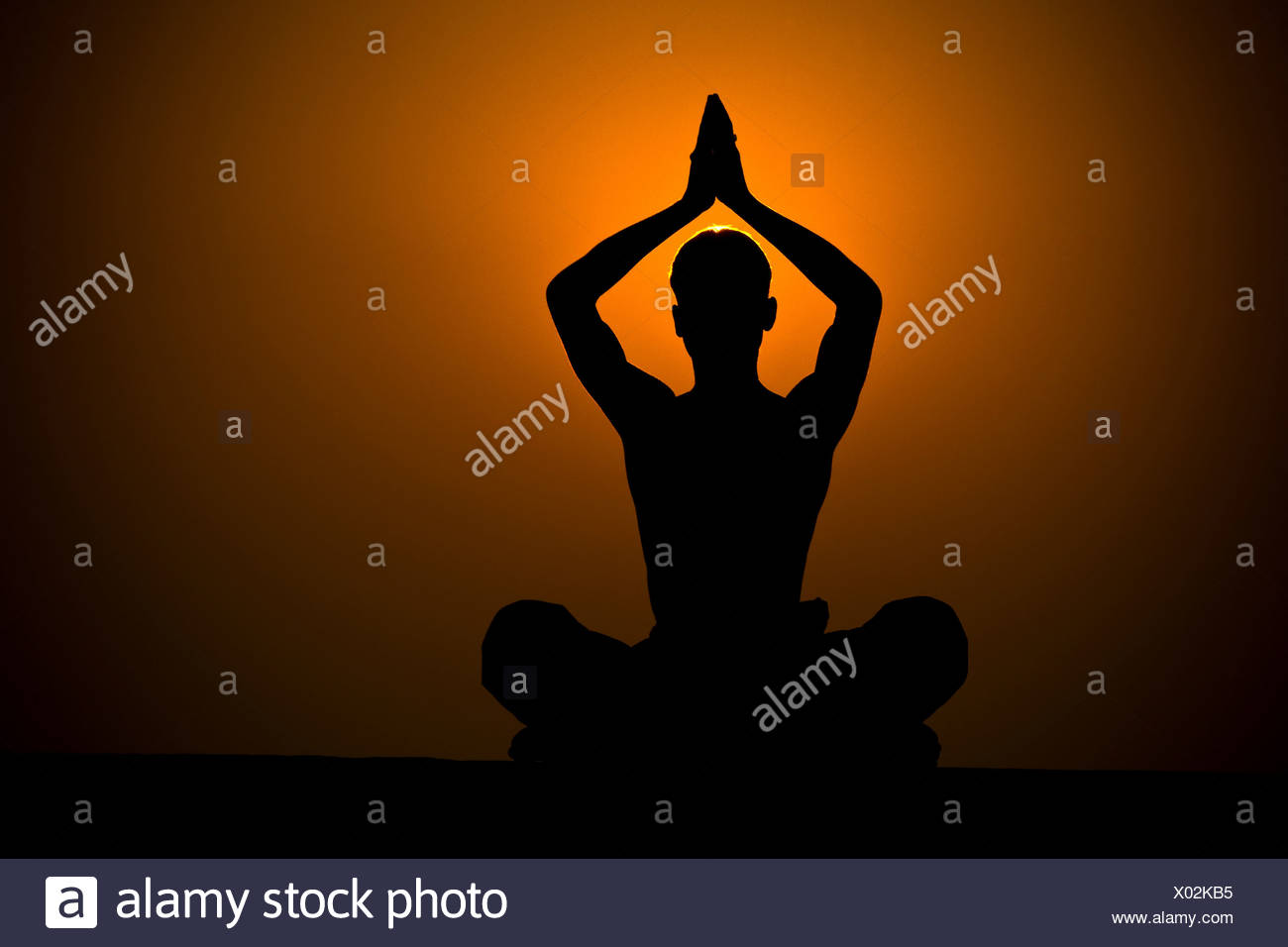 Samadhi practice, Varanasi, India - Stock Image