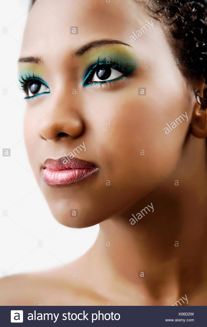 beauty,cosmetics,young woman,woman,makeup - Stock Image
