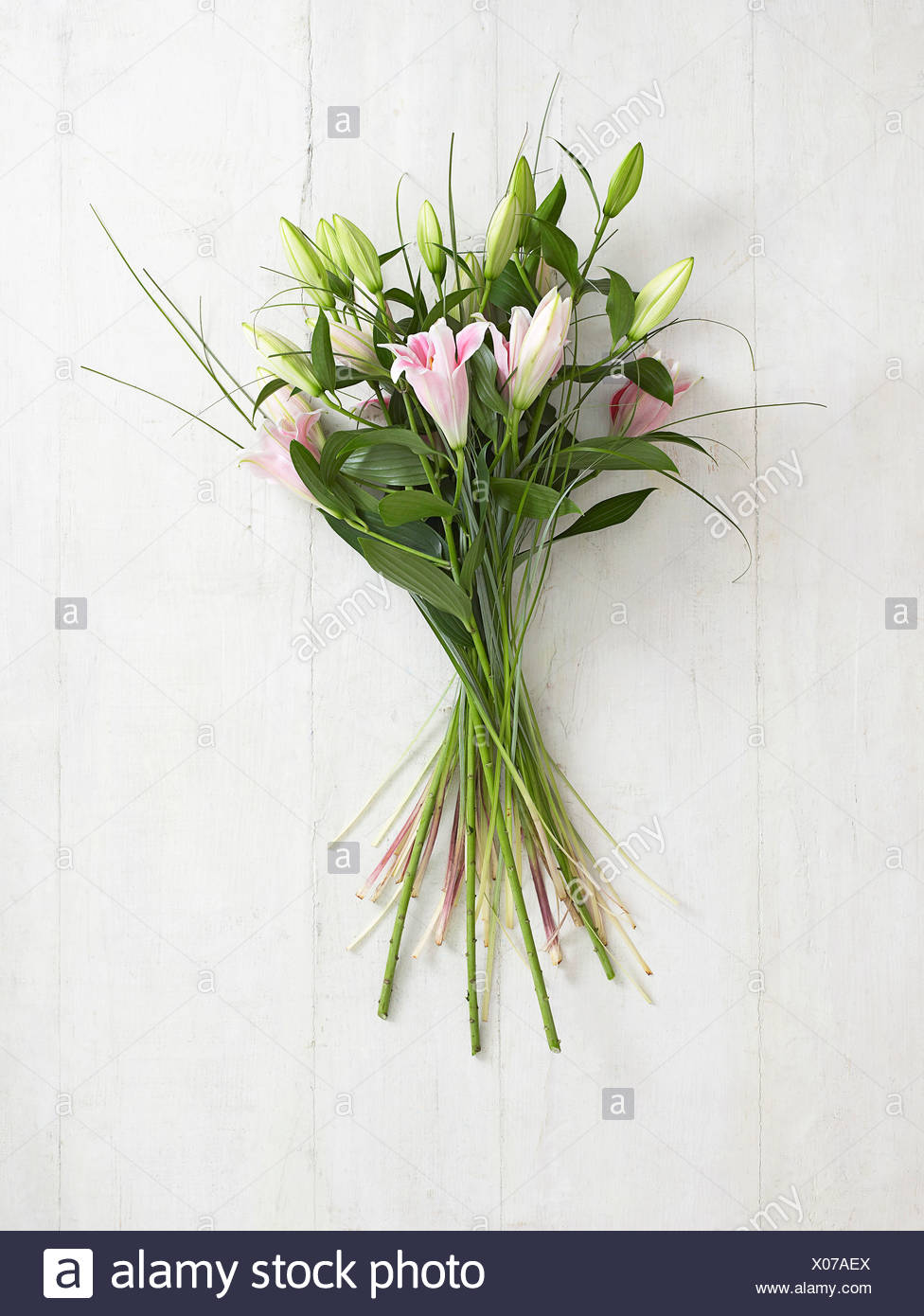Bunch Of Lilies Close Up Stock Photo 275527810 Alamy