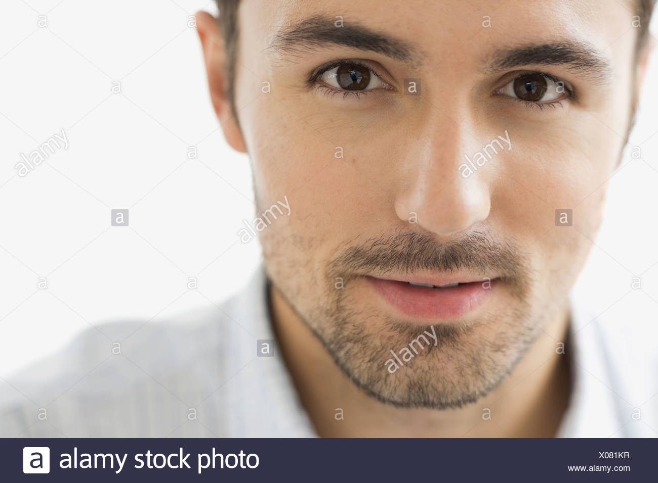 Close-up portrait of confident man - Stock Image