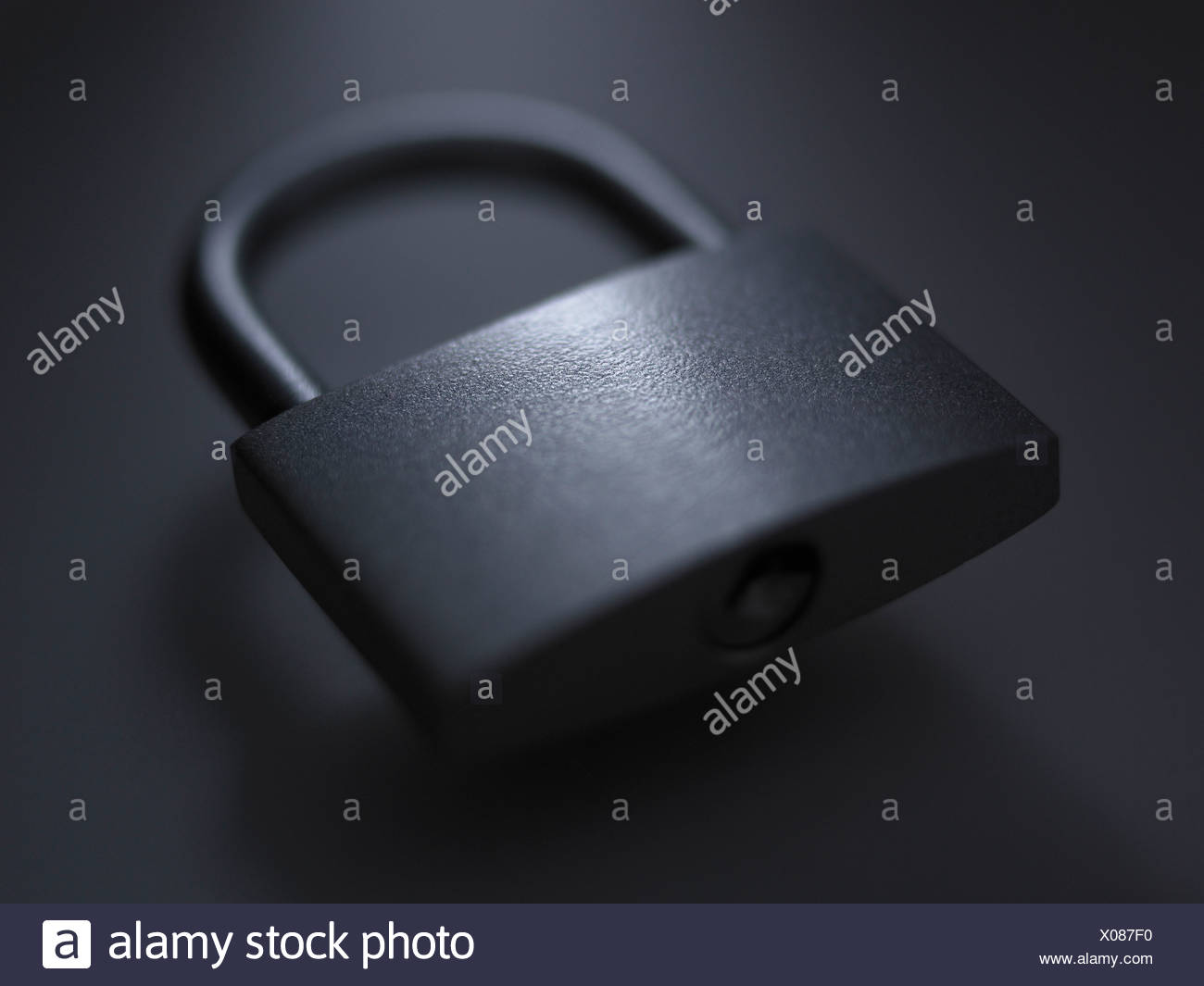 Close up of metal padlock - Stock Image