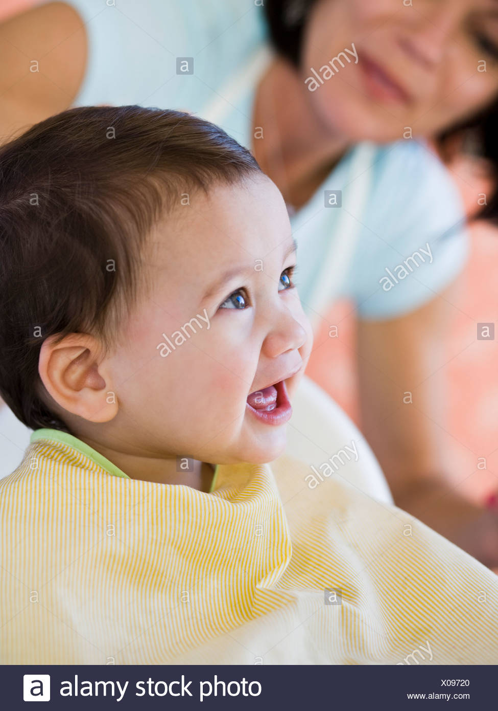 Baby Getting A Haircut Stock Photo 275569000 Alamy