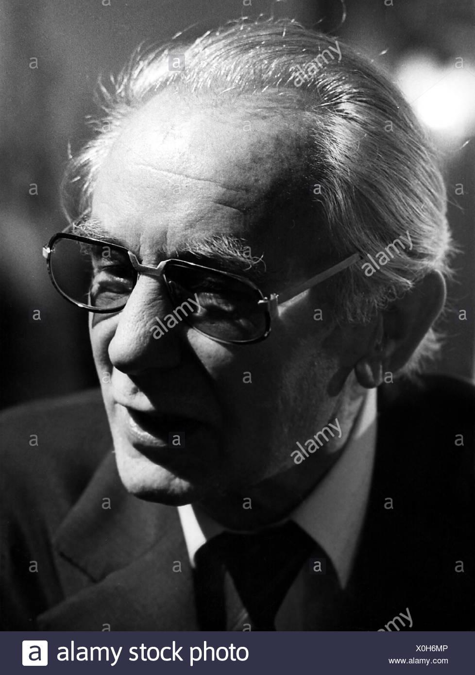 Kaeutner, Helmut, 25.3.1908 - 20.4.1980, German director, portrait, 1974, 1970s, 70s, male, man, - Stock Image