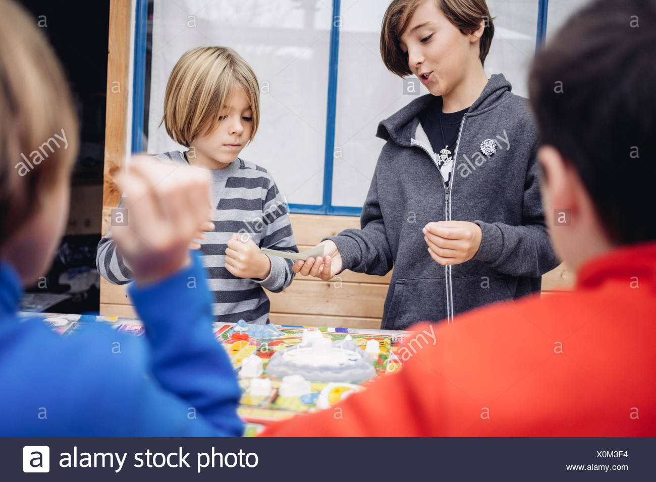 Children playing with toys - Stock Image