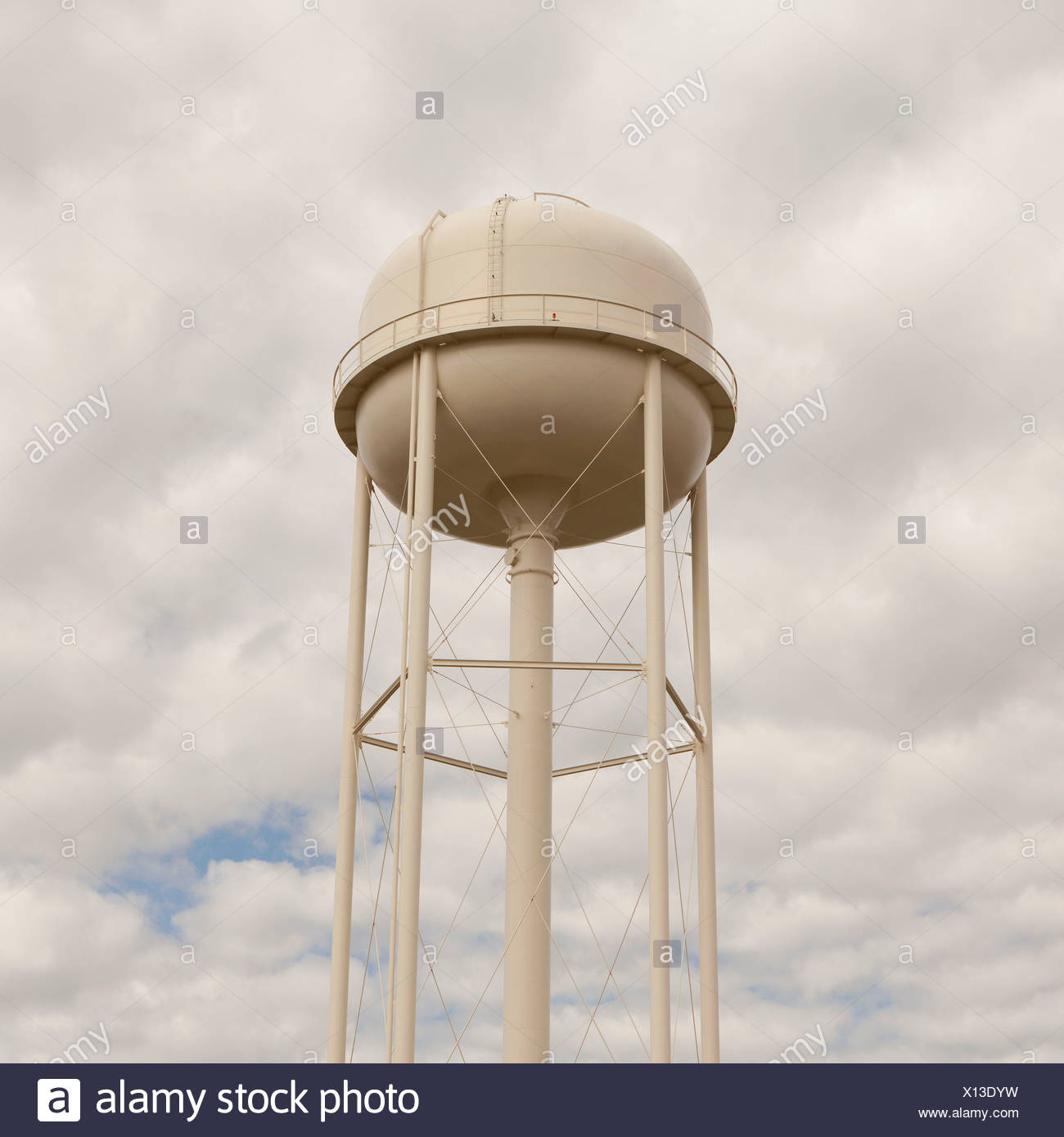 A white water tower in Silver Bow County, Montana. - Stock Image