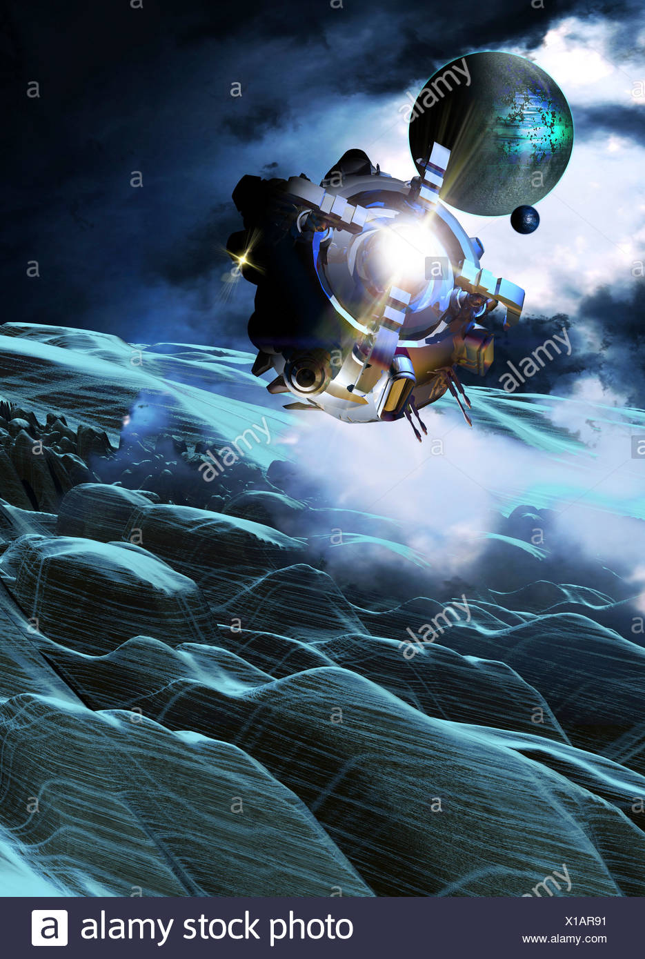 Space exploration, artwork - Stock Image