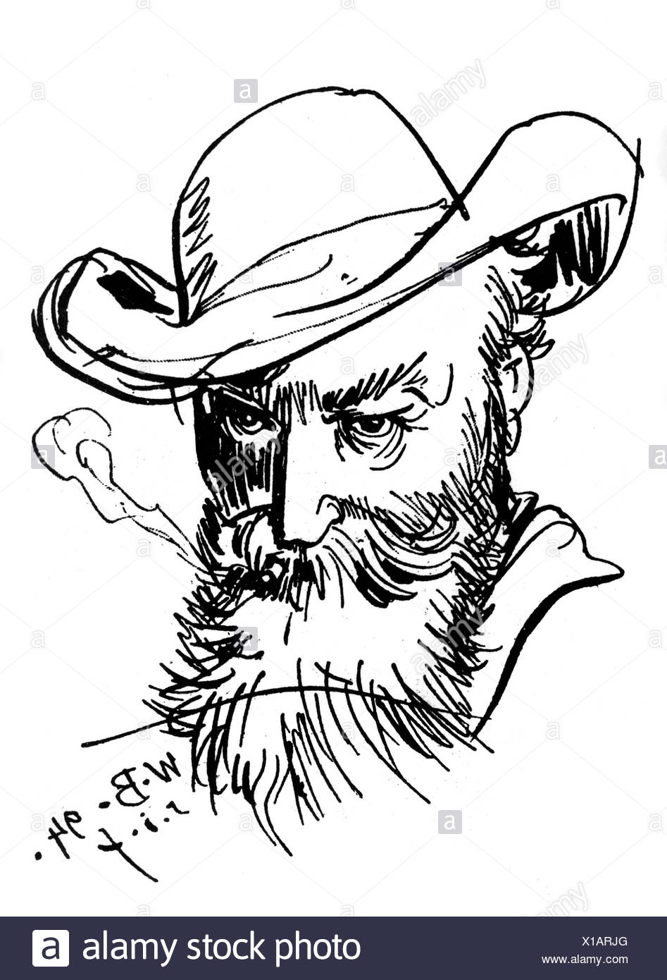 77dd6636ac4 Busch wilhelm german author writer and painter self portrait drawing artist  copyright has not to be