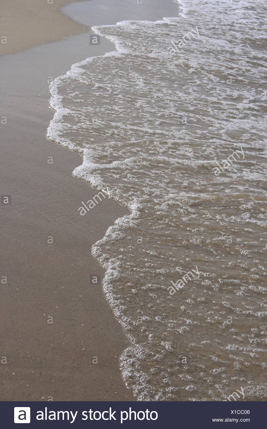 Beach and surf - Stock Image