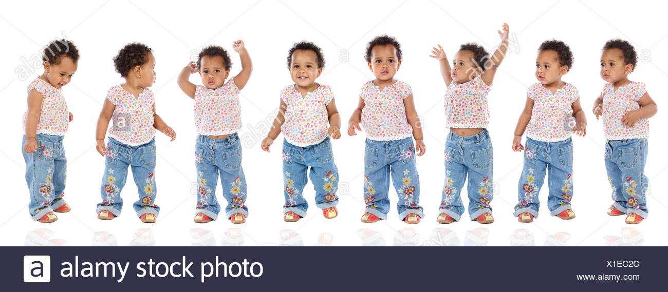 expression hyperactive gestures - Stock Image