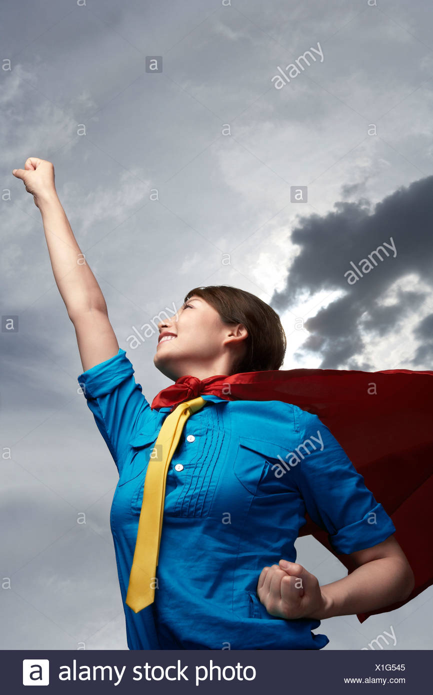 Super Corporate Woman - Stock Image