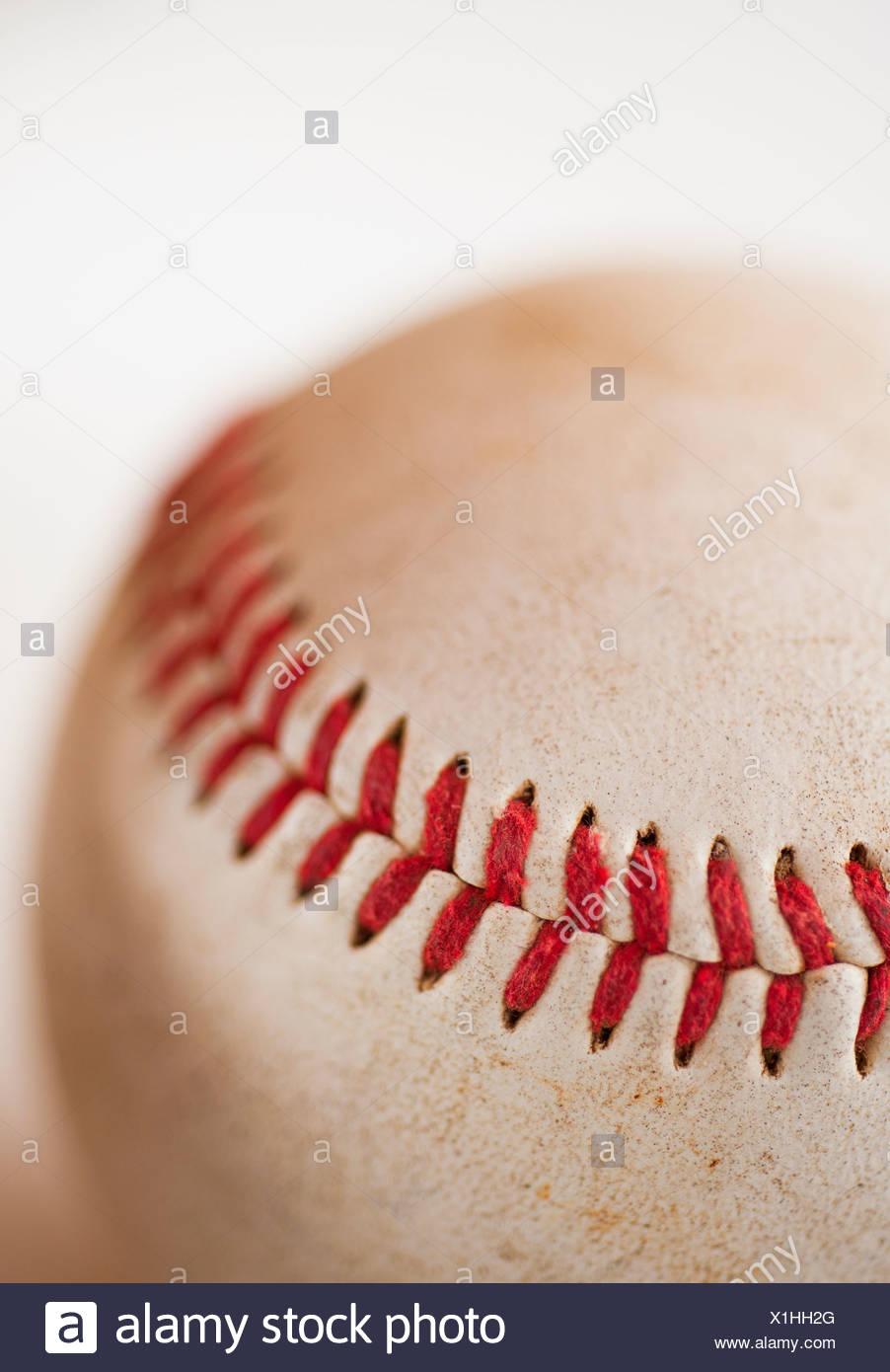 Close-up of baseball ball - Stock Image