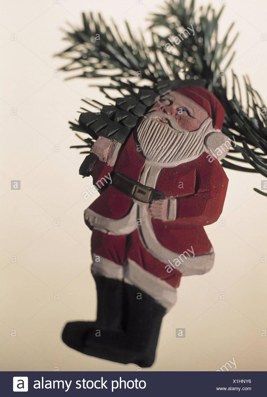 christmas fir branch wooden santa claus christmas tree christmas tree christmas tree decorations trimmings tree jewellery deko christmas tree - Santa Claus Christmas Tree Decorating Ideas