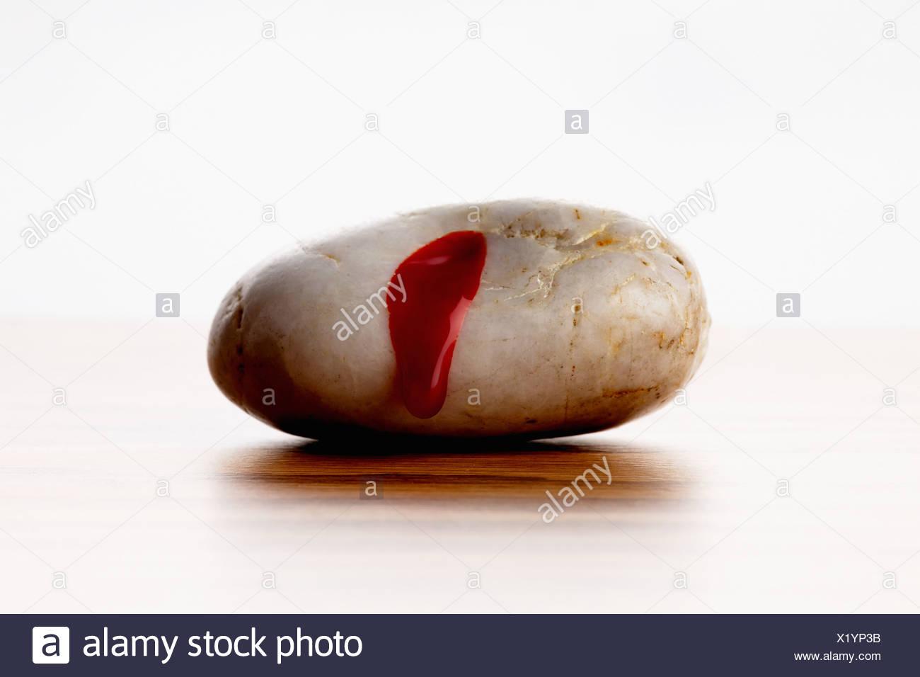 Bleeding stone - Stock Image