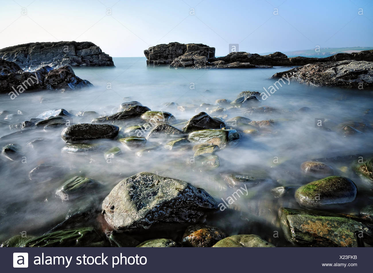 Ireland, Munster, County Cork, Kinsale, Beautiful day at seaside - Stock Image