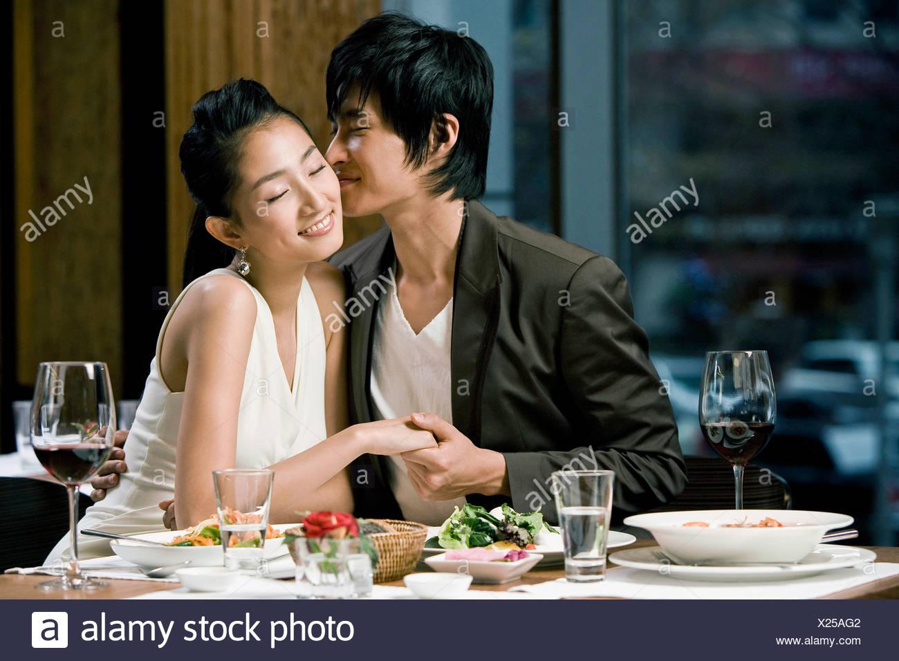 Korean Couple Kissing Stock Photos & Korean Couple Kissing ...