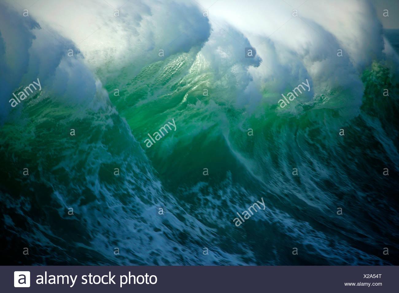 Huge wave off the coast of Vancouver Island, British Columbia, Canada - Stock Image