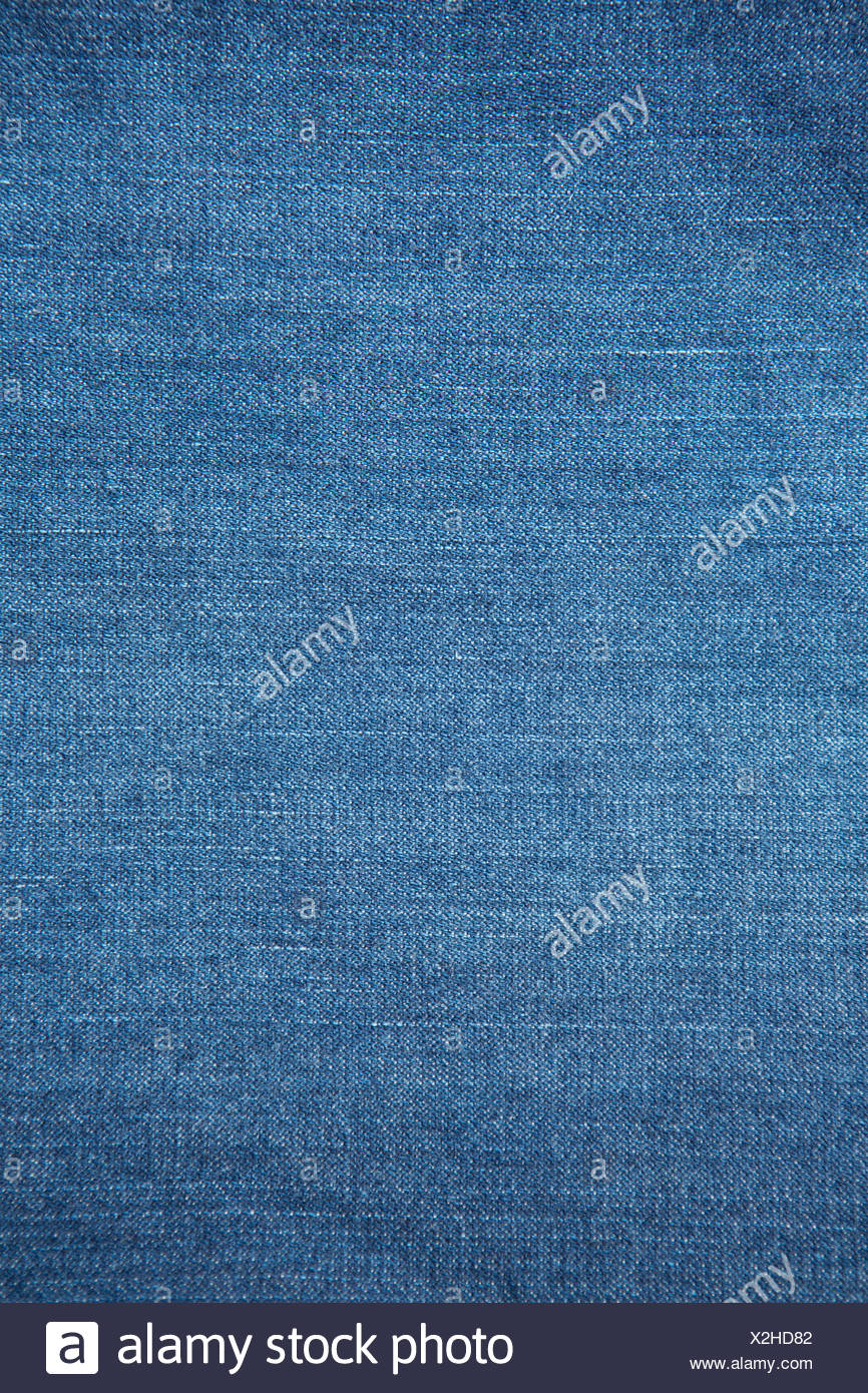 Blue denim - Stock Image