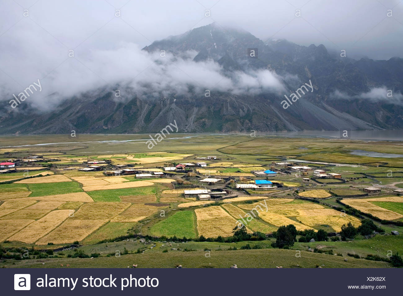 Cropland in Tibet,China - Stock Image
