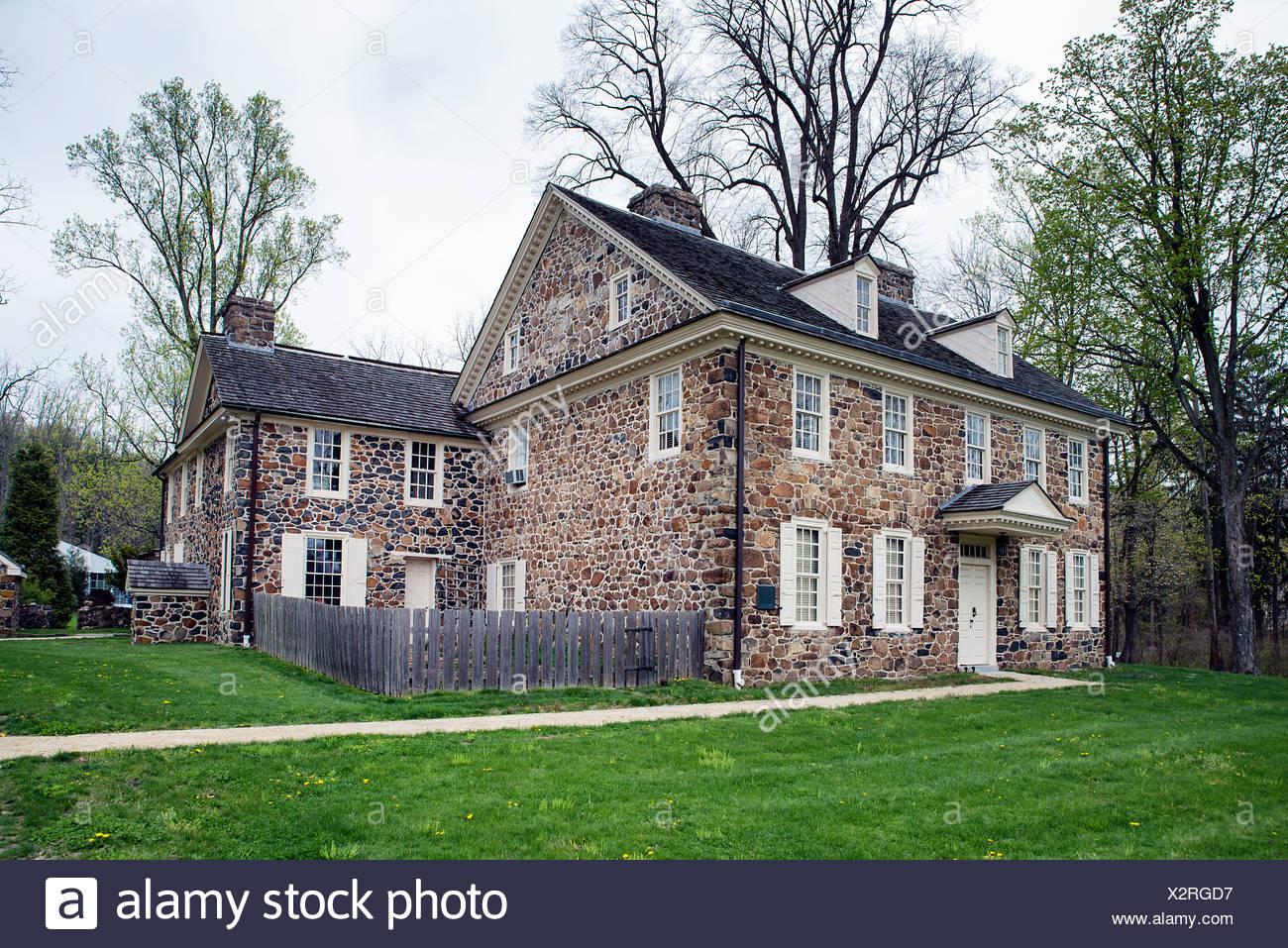 Historic Waynesboro, home of Major General Anthony Wayne, 1745-1796, Paoli, Pennsylvania, PA, USA - Stock Image