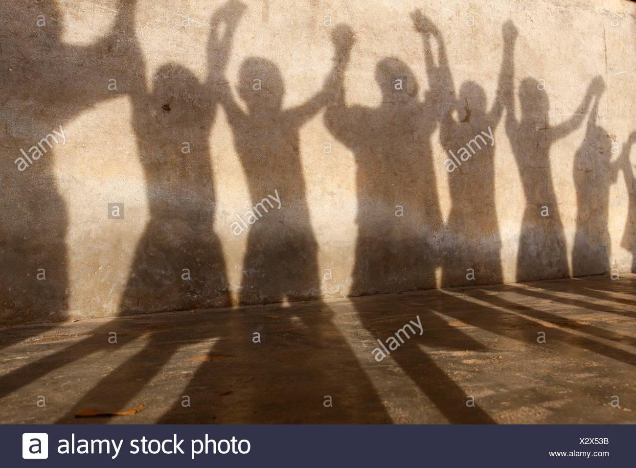 GROUP OF CHILDREN - Stock Image