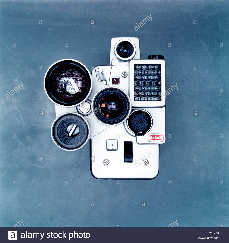 Studio shot of old fashioned camera - Stock Image