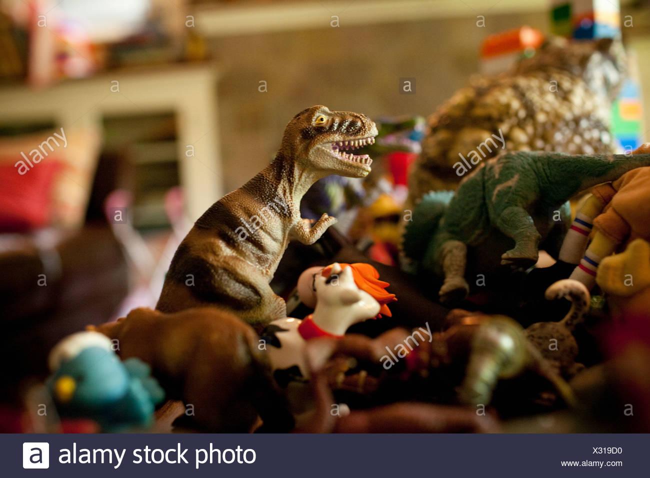 Childhood toys, close up - Stock Image