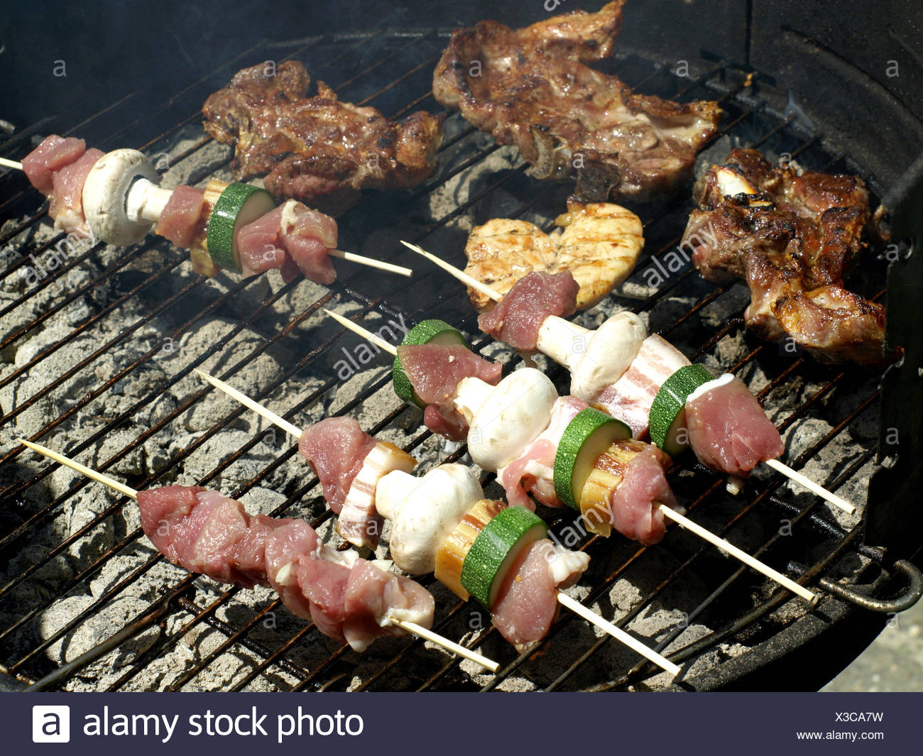 barbecue for family - Stock Image