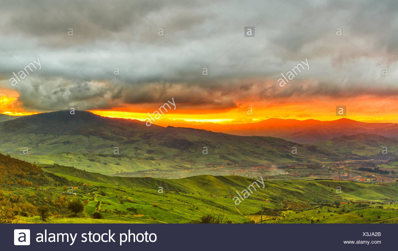 Italy, Nerbrodi, View of landscape - Stock Image