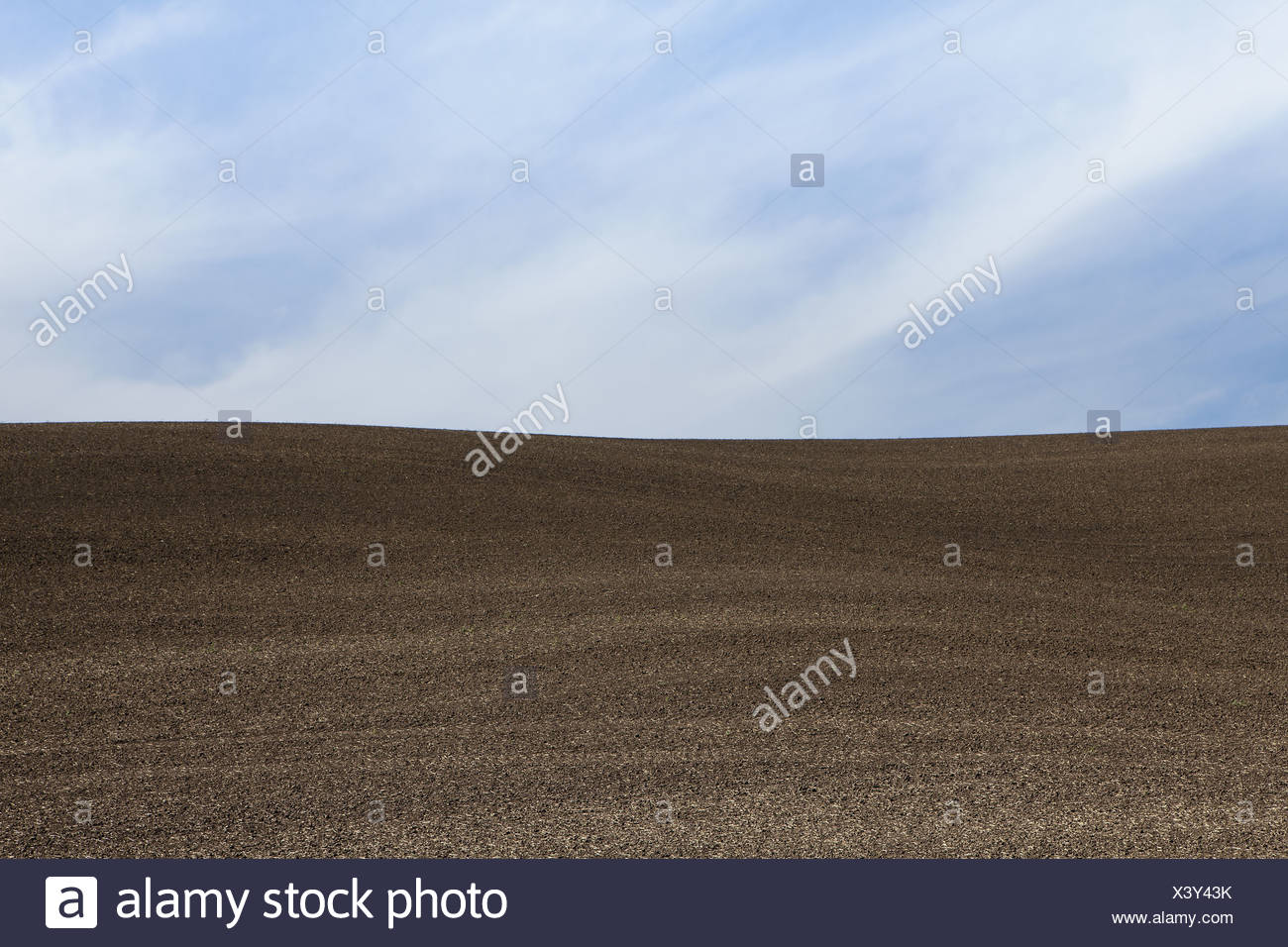 Washington USA ploughed field and rolling landscape - Stock Image