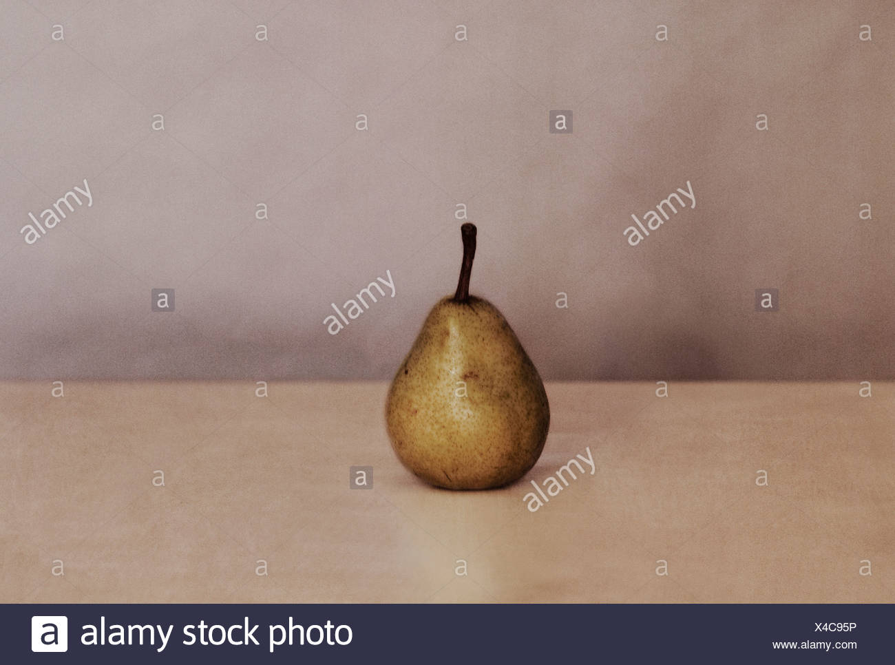 Pear on table - Stock Image