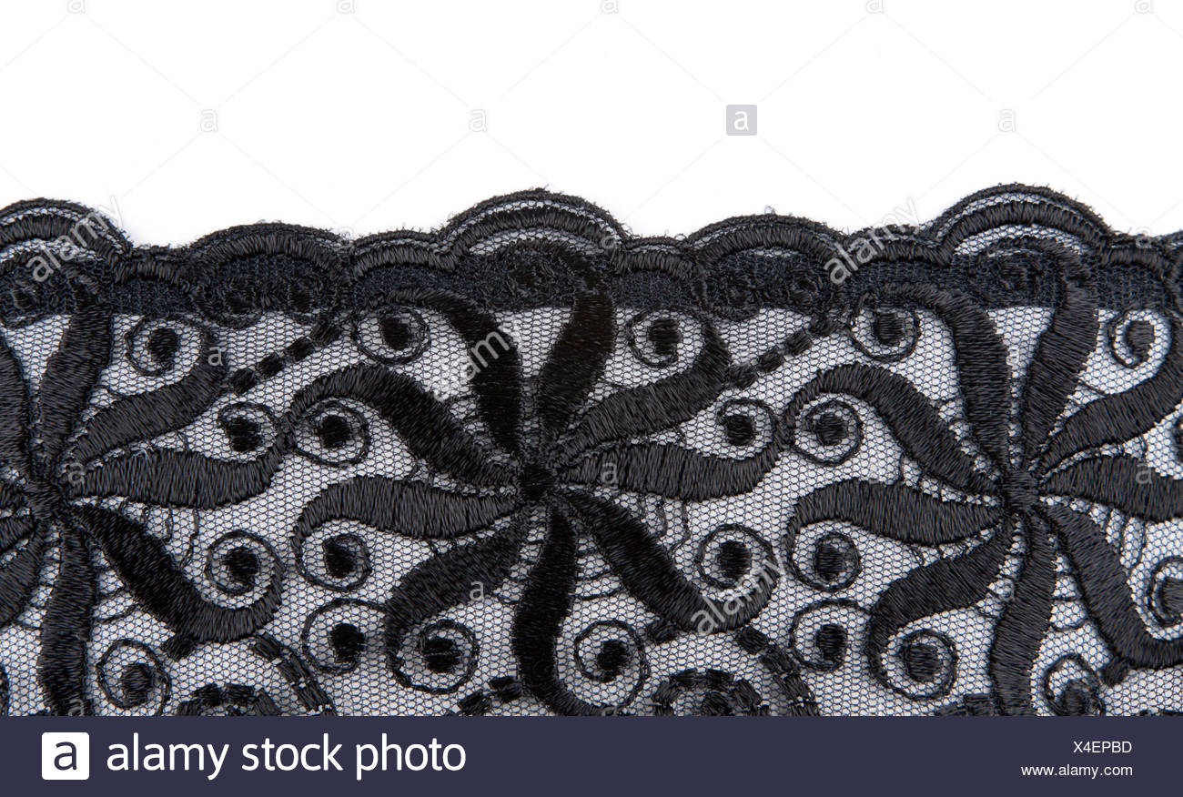 Black Lace Fabric Stock Photos Images