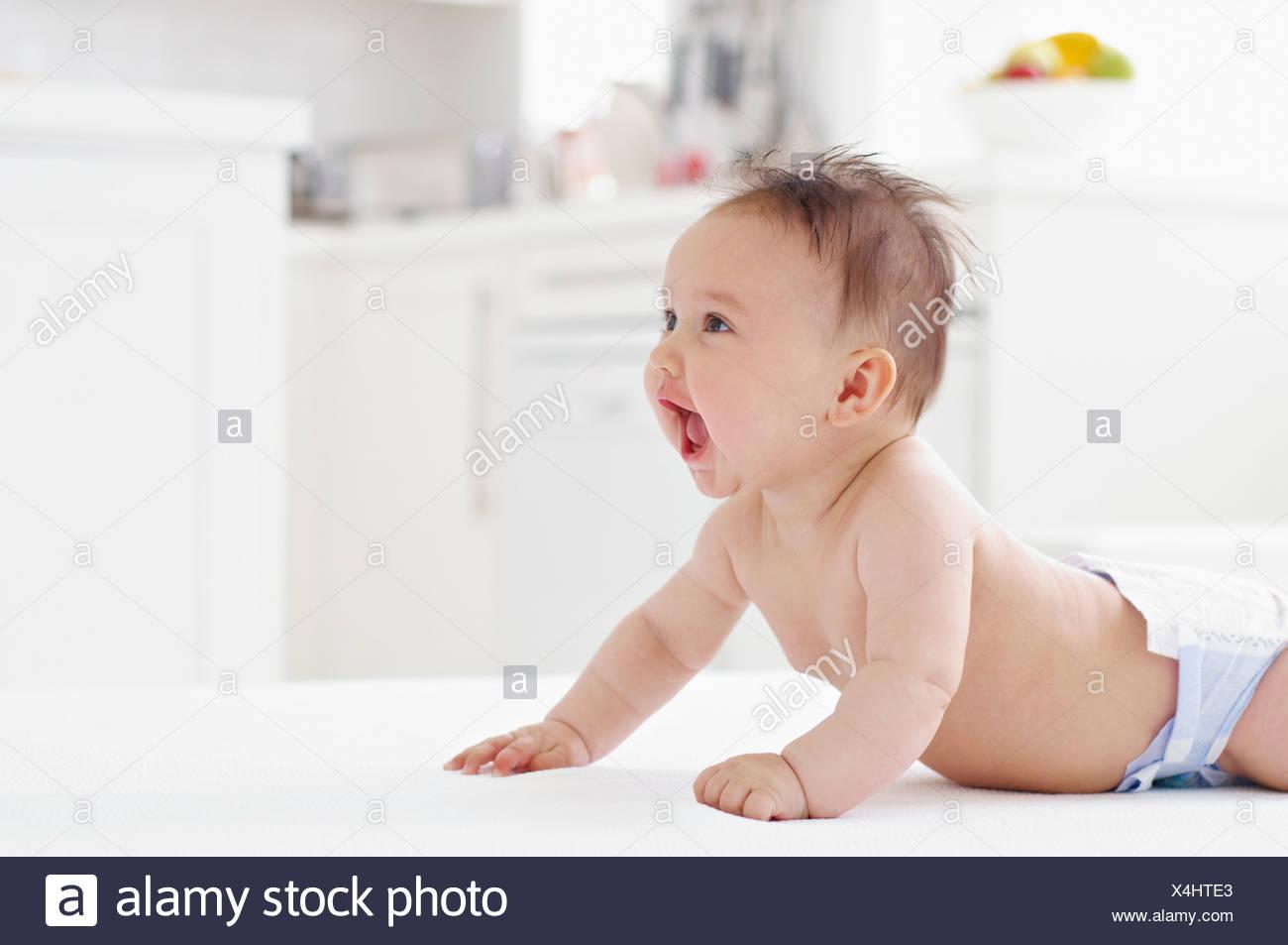 Happy baby girl - Stock Image