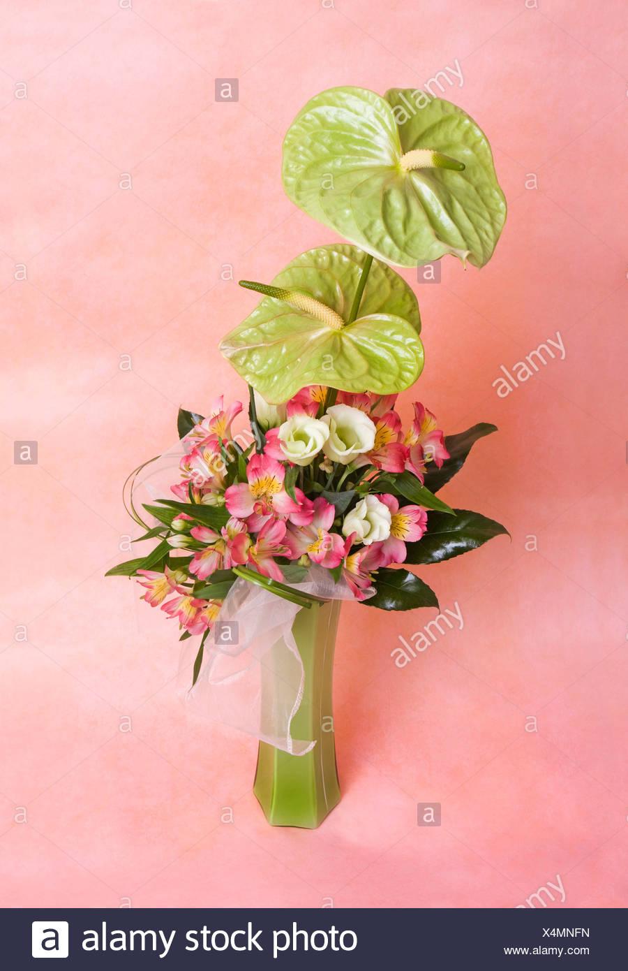 Flower Arrangement With Anthurium Flowers Stock Photo 278280457 Alamy