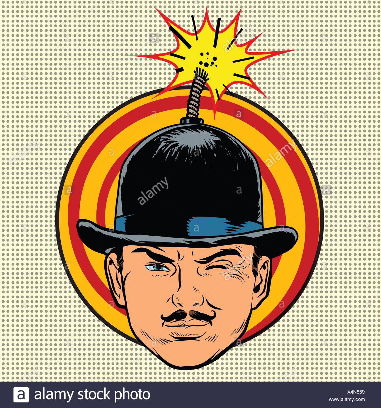 Terrorist Spy Photo >> Spy Terrorist In The Hat Bomb Wick Stock Photo 278291925 Alamy