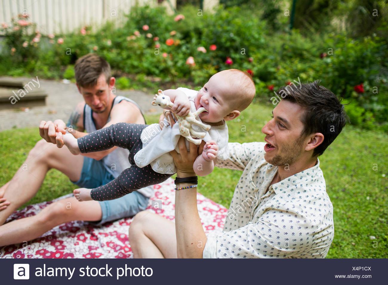 girls playing with men